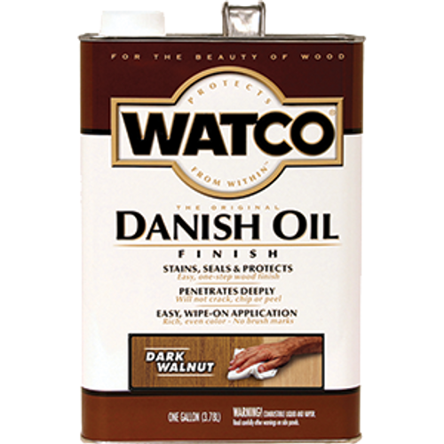 WATCO 65831 1G DARK WALNUT DANISH OIL