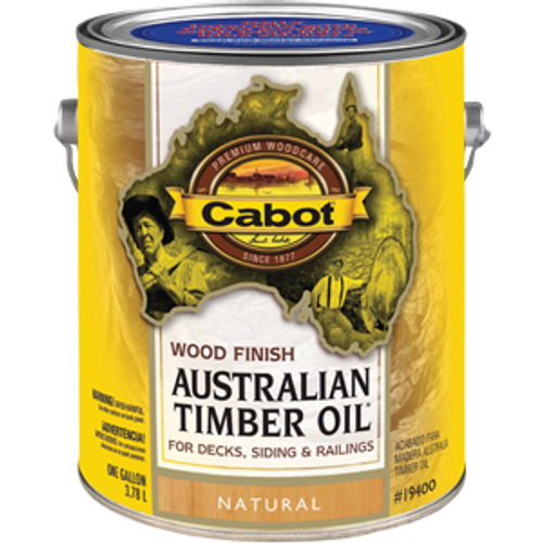CABOT 19400 1G NATURAL AUSTRALIAN TIMBER OIL WOOD FINISH - W/R OIL MODIFIED RESIN