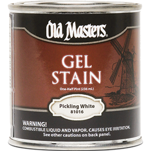 Old Masters Pickling White Gel Stain: OLD MASTERS 81016 .5PT PICKLING WHITE GEL STAIN