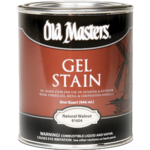 OLD MASTERS 81604 QT NATURAL WALNUT GEL STAIN CLASSICS