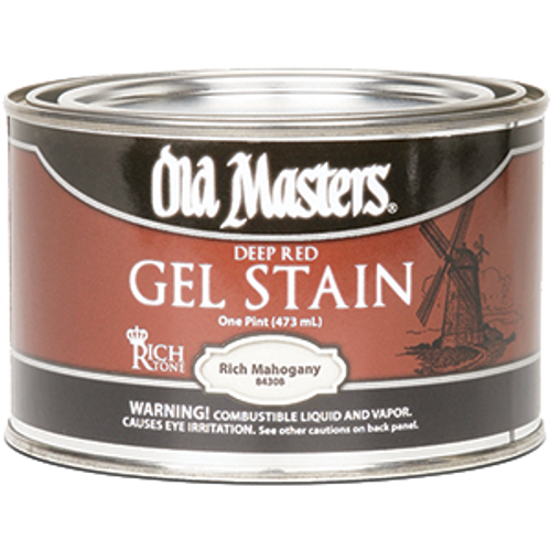 OLD MASTERS 84308 PT DEEP RED RICH MAHOGANY GEL STAIN