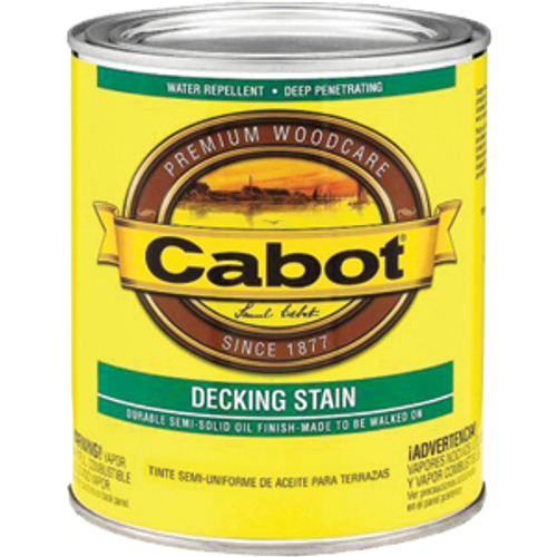 CABOT 41407 QT DEEP BASE DECK & SIDING SEMI SOLID STAIN
