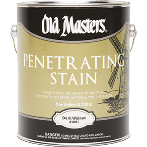 OLD MASTERS 41001 1G DARK WALNUT PENETRATING STAIN