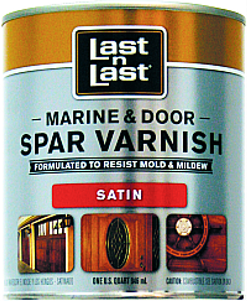 ABSOLUTE 50804 QT SATIN LAST N LAST MARINE & DOOR SPAR VARNISH 450 VOC