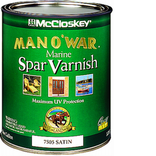 MCCLOSKEY 80-7505 QT SATIN MAN-O-WAR SPAR VARNISH 450 VOC