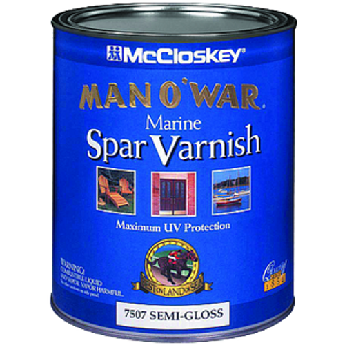 MCCLOSKEY 80-7507 QT SEMI GLOSS MAN-O-WAR SPAR VARNISH 450 VOC