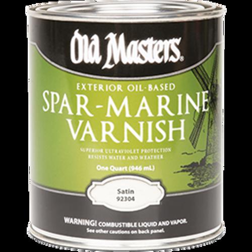 OLD MASTERS 92304 QT SATIN SPAR MARINE VARNISH