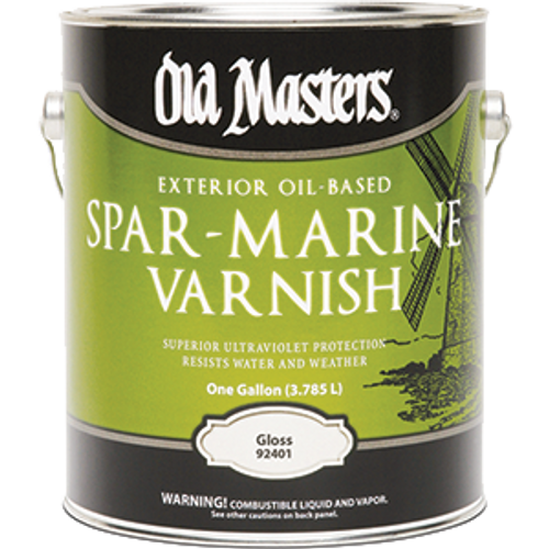 OLD MASTERS 92401 1G GLOSS OIL BASED SPAR MARINE VARNISH 350 VOC