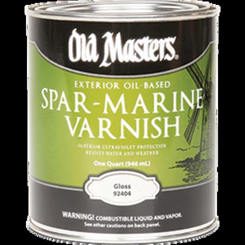 OLD MASTERS 92404 QT GLOSS OIL BASED SPAR MARINE VARNISH