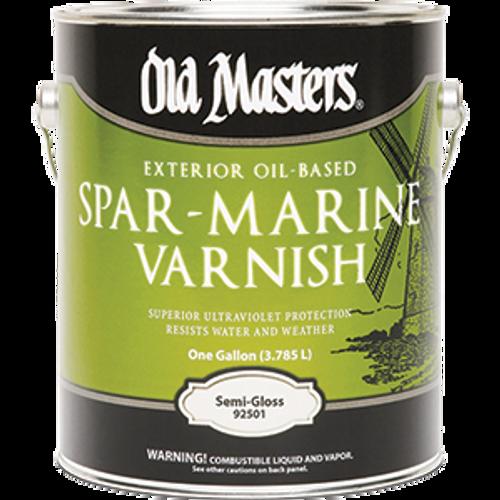OLD MASTERS 92501 1G SEMI GLOSS SPAR MARINE VARNISH 350 VOC