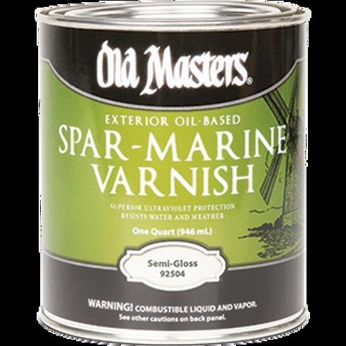 OLD MASTERS 92504 QT SEMI GLOSS SPAR MARINE VARNISH