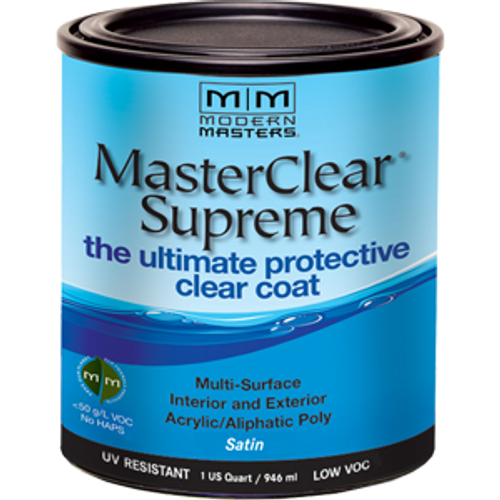 MODERN MASTERS MCS90232 QT SATIN MASTERCLEAR SUPREME PROTECTIVE CLEAR COAT - 4ct. Case