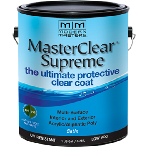 MODERN MASTERS MCS902GAL 1G SATIN MASTERCLEAR SUPREME PROTECTIVE CLEAR COAT - 2ct. Case