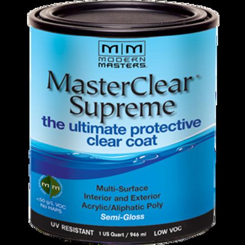 MODERN MASTERS MCS90332 QT SEMI- GLOSS MASTERCLEAR SUPREME PROTECTIVE CLEAR COAT - 4ct. Case