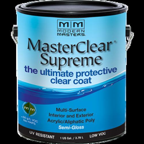 MODERN MASTERS MCS903GAL 1G SEMI- GLOSS MASTERCLEAR SUPREME PROTECTIVE CLEAR COAT - 2ct. Case