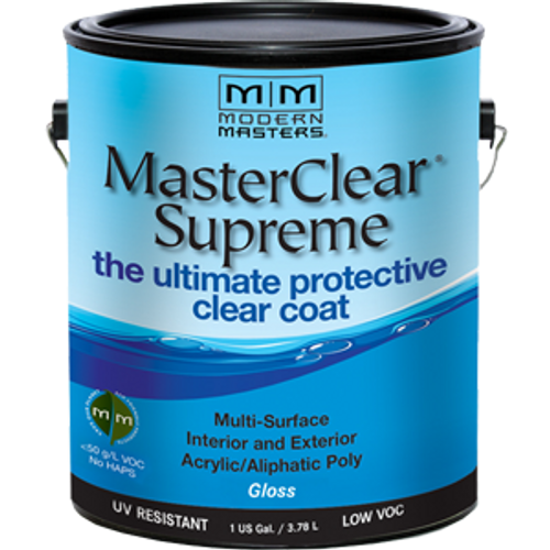 MODERN MASTERS MCS904GAL 1G GLOSS MASTERCLEAR SUPREME PROTECTIVE CLEAR COAT - 2ct. Case