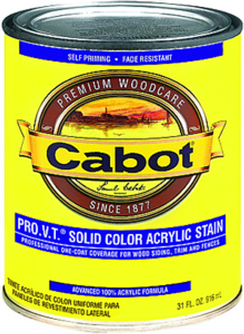CABOT 0801 QT WHITE BASE PRO V.T. SOLID ACRYLIC
