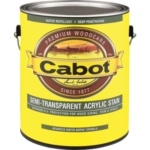 CABOT 1307 1G DEEP BASE SEMI TRANSPARENT WATER BASED STAIN