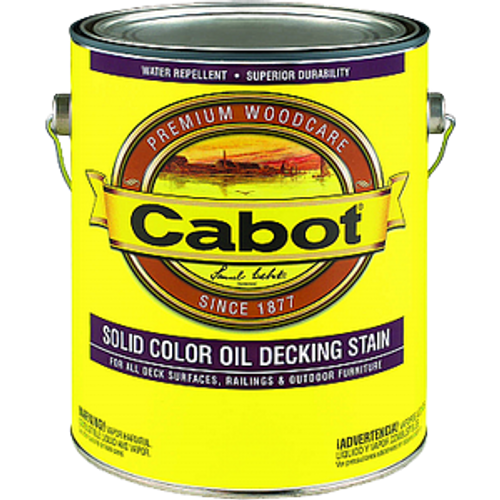 CABOT 1601 1G WHITE BASE SOLID OIL DECKING STAIN