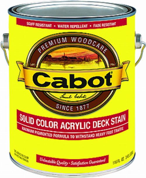 CABOT 1806 1G NEUTRAL BASE SOLID COLOR DECKING ACRYLIC STAIN WITH TEFLON SURFACE PROTECTOR
