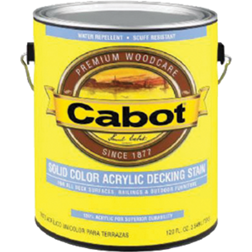 CABOT 1801 QT WHITE BASE SOLID COLOR DECKING STAIN WITH TEFLON SURFACE PROTECTOR
