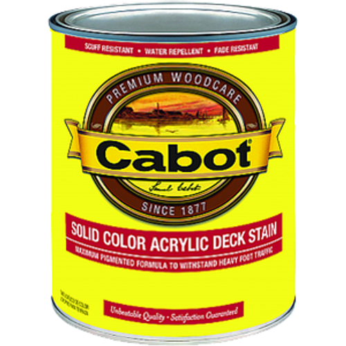 CABOT 1808 QT MED BASE SOLID COLOR DECKING STAIN WITH TEFLON SURFACE PROTECTOR
