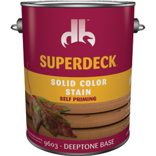 DUCKBACK DB-9603-4 1G DEEPTONE BASE ACRYLIC LATEX SELF PRIMING SOLID COLOR DECK & SIDING STAIN &