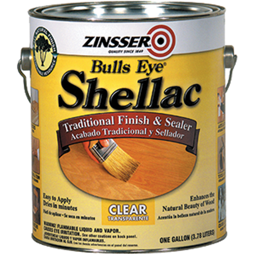 ZINSSER 00301 1G 3LB CUT BULLSEYE CLEAR SHELLAC