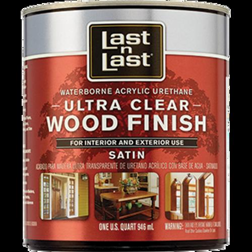 ABSOLUTE 13104 QT SATIN ULTRA CLEAR LAST N LAST WATERBORNE WOOD FINISH