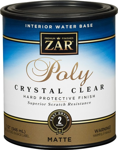 Zar 34412 Qt Matte Poly Crystal Clear Int WB