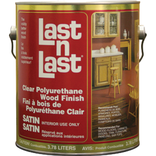 ABSOLUTE 50101 1G SATIN LAST N LAST POLYURETHANE WOOD FINISH 550 VOC