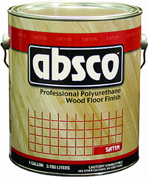 ABSOLUTE 89101 1G SATIN ABSCO POLYURETHANE WOOD FLOOR FINISH 450 VOC