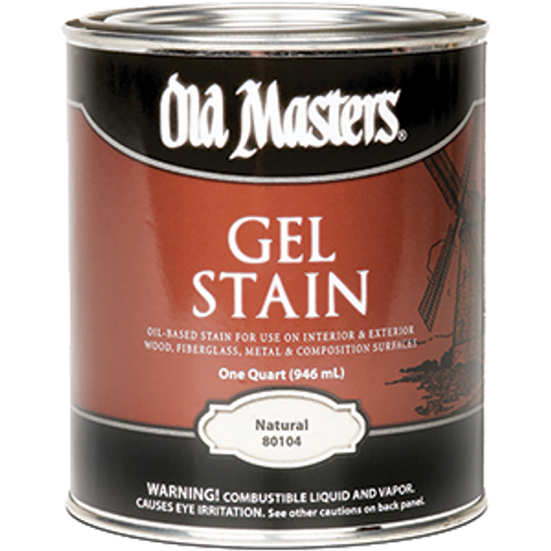 OLD MASTERS 80104 QT NATURAL GEL STAIN
