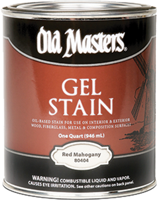 OLD MASTERS 80404 QT RED MAHOGANY GEL STAIN