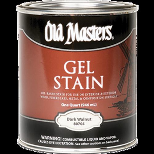 OLD MASTERS 80704 QT DARK WALNUT GEL STAIN