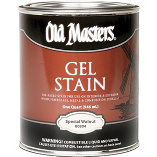 OLD MASTERS 80804 QT SPECIAL WALNUT GEL STAIN