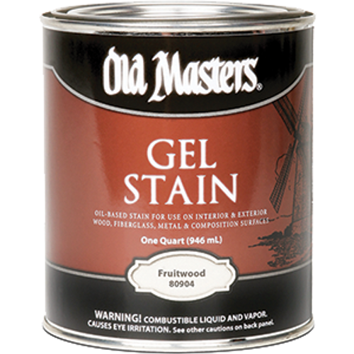 OLD MASTERS 80904 QT FRUITWOOD GEL STAIN