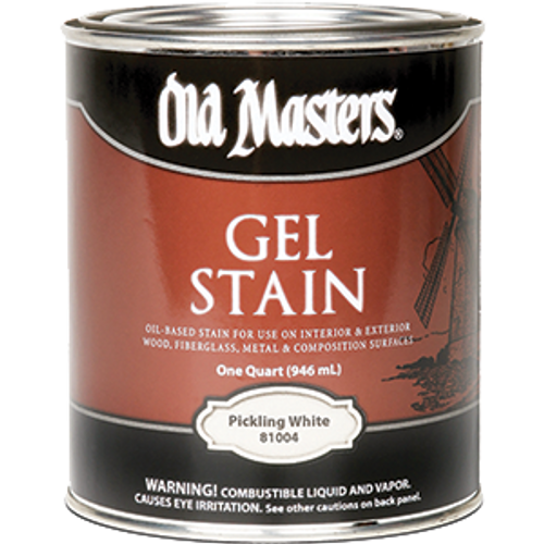 OLD MASTERS 81004 QT PICKLING WHITE GEL STAIN