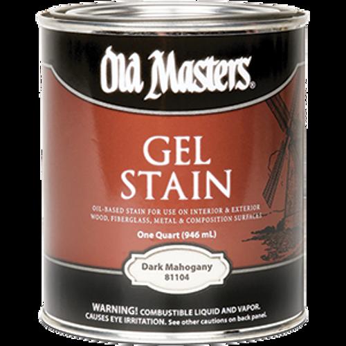 OLD MASTERS 81104 QT DARK MAHOGANY GEL STAIN