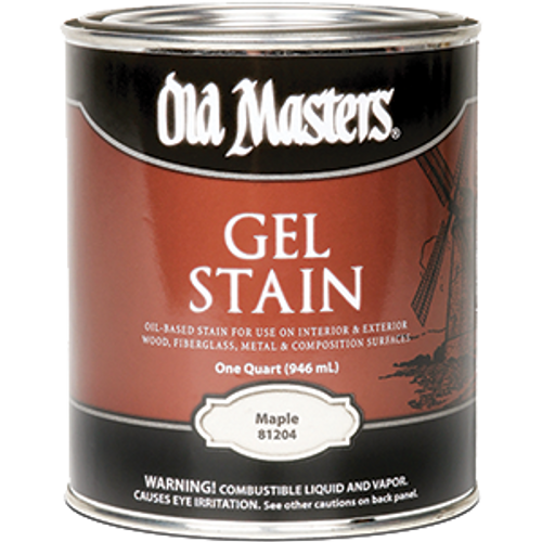 OLD MASTERS 81204 QT MAPLE GEL STAIN