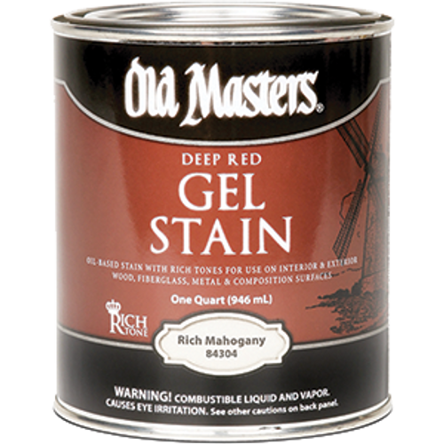 OLD MASTERS 84304 QT DEEP RED RICH MAHOGANY GEL STAIN