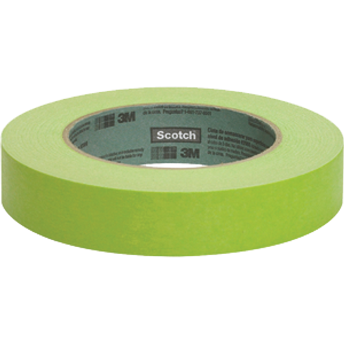 "3M 2060-1A-BK 1"" X 60YD GREEN SCOTCH LACQUER MASKING TAPE BULK"
