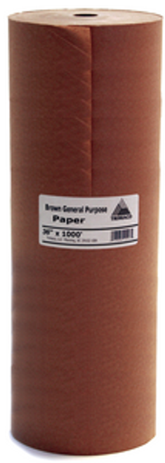 "TRI PAPER 12108 BL36 36"" X 1000' BROWN GENERAL PURPOSE MASKING PAPER"