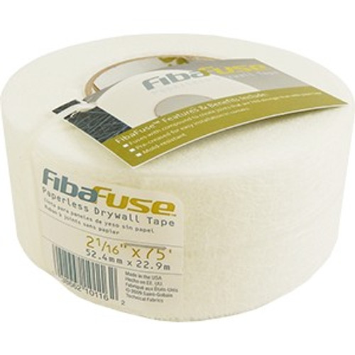 "Fibatape FDW8234-U 2-1/16"" x 75' Fibafuse Paperless Drywall Tape"