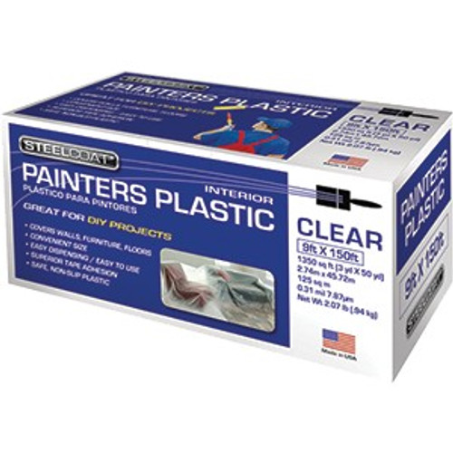Petoskey FG-P9934-28 9' x 150' .31mil High Density Painters Plastic