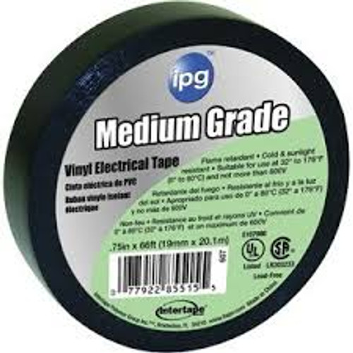 IPG 87318 AC10 48mm x 54.8m 7mil Black Utility Duct Tape