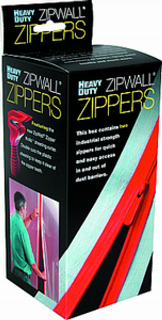 "ZIPWALL HDAZ2 2PK HEAVY DUTY ADHESIVE ZIPPERS 3"" x 84"" INCLUDES KNIFE"