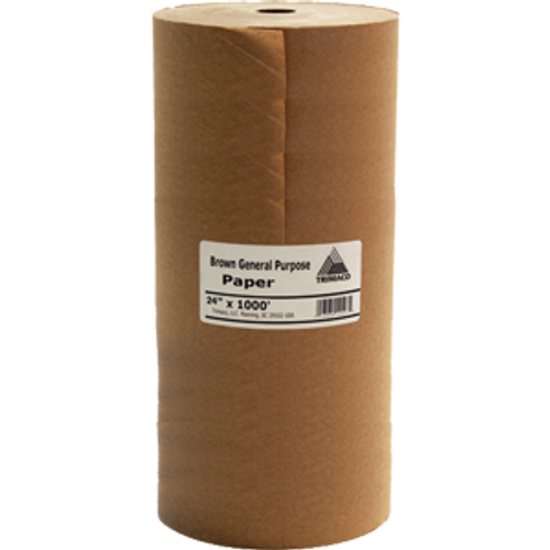 "TRI PAPER 12104 24"" X 1000' BROWN GENERAL PURPOSE MASKING PAPER"