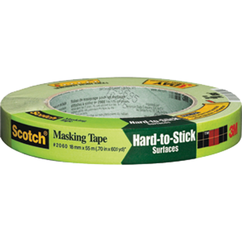 "3M 2060-.75A-BK 3/4"" X 60YD GREEN SCOTCH LACQUER MASKING TAPE BULK"