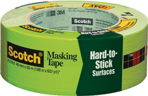 """3M 2060-2A 2"""" X 60YD GREEN SCOTCH LACQUER MASKING TAPE S/W"""